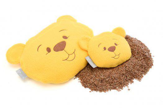 Подушка-Мишка Organic Flax с семенами льна 12*11см