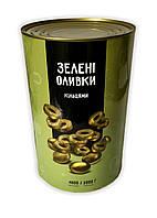 Оливки резанные (зелёные оливки)TM Del Gusto 4кг