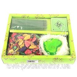 Ароматные палочки благовония с сердечком и разноцветными лепестками CSD19