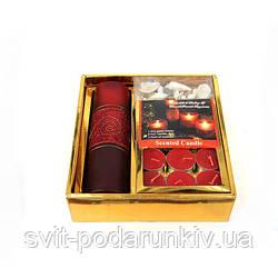 Чайные свечи и ваза в подарочном наборе S2006JC