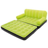 Раскладной велюровый диван 2 в 1 Bestway 67356, 188 х 152 х 64 см, с электрическим насосом