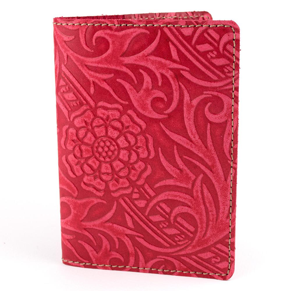 Кожаная обложка на паспорт Амелия (красная)