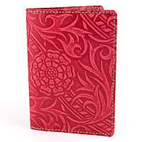 Кожаная обложка на паспорт Амелия (красная), фото 1