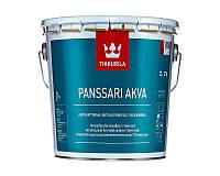Эмаль акриловая TIKKURILA PANSSARIMAALI AQUA для металла база С 2,7л