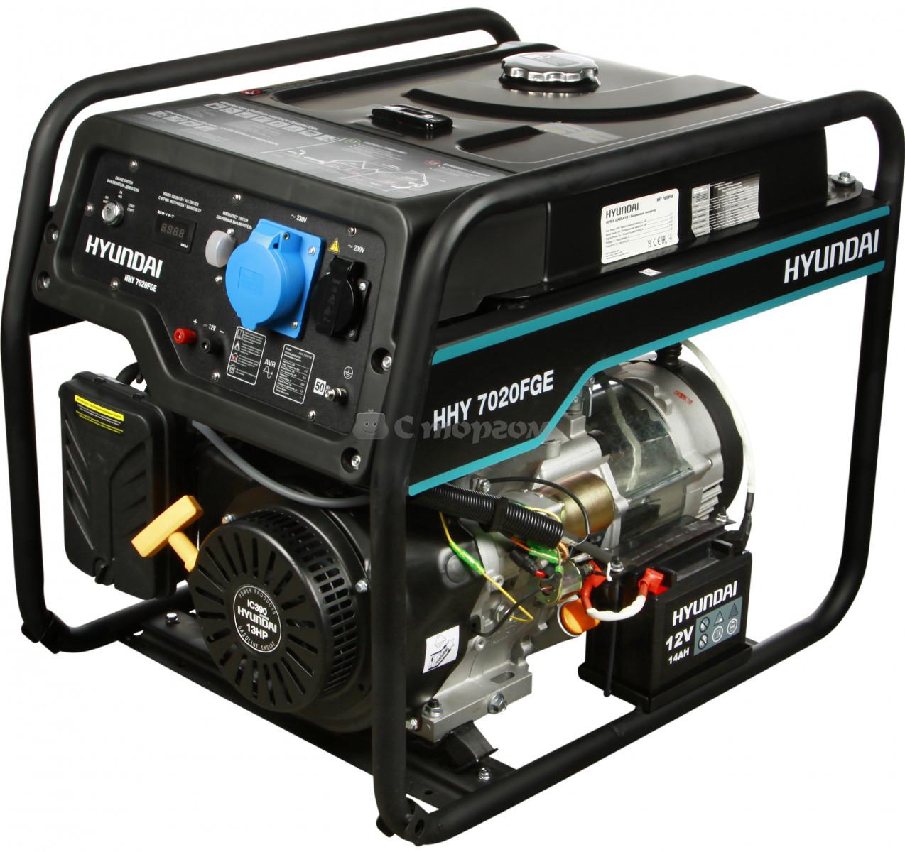 Бензиновый генератор HYUNDAI HHY 9010FE  6,0 (6,5) кВт