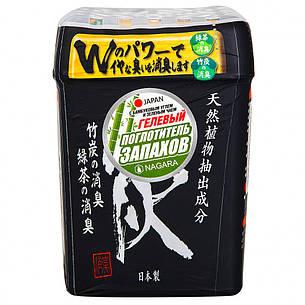 Поглотитель запаха гелевый NAGARA с бамбуковым углем и зеленым чаем 320 г (2725), фото 2