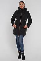 Модная женская куртка демисезонная  (50р черная), доставка по Украине