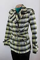 """Піджак-куртка жіноча """"Клітка"""" чорно-жовтий"""