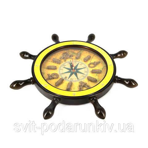 Часы настенные в виде штурвала HB014D