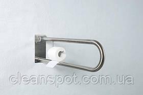 Відкидний поручень з тримач туалетного паперу