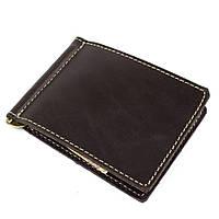 Кожаный зажим для денег Crez-4 (коричневый), фото 1