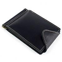 Кожаный зажим для денег Crez-3 (черный), фото 1