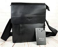 Небольшая мужская сумка - планшет Polo с ручкой. Стильные мужские сумки. Большой выбор мужских сумок.