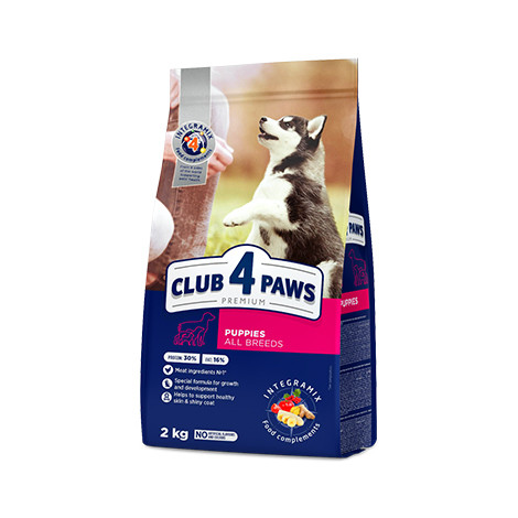 Сухой корм для щенков Клуб 4 Лапи PREMIUM  14 кг.