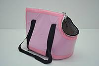 Сумка-переноска для котов и собак Диско розовая, фото 1