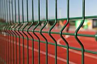 Забор из сварной сетки 3D с ППЛ покрытием