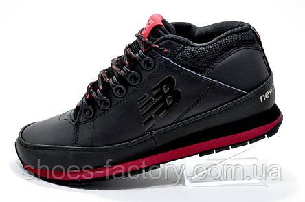 Зимние ботинки в стиле New Balance 754, Black\Red (Кожа), фото 2
