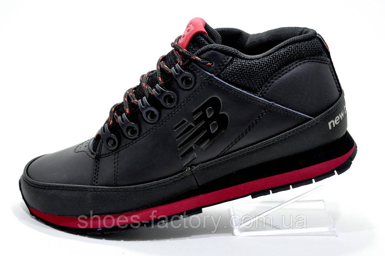 Зимние ботинки в стиле New Balance 754, Black\Red (Кожа)