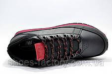 Зимние ботинки в стиле New Balance 754, Black\Red (Кожа), фото 3