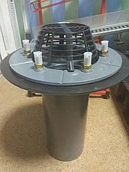 Чугунная воронка Sita Multi с зажимным фланцем для гидроизоляции, листвоуловитель, вертикальная DN110