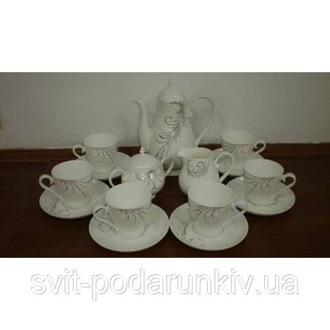 белый чайный сервиз