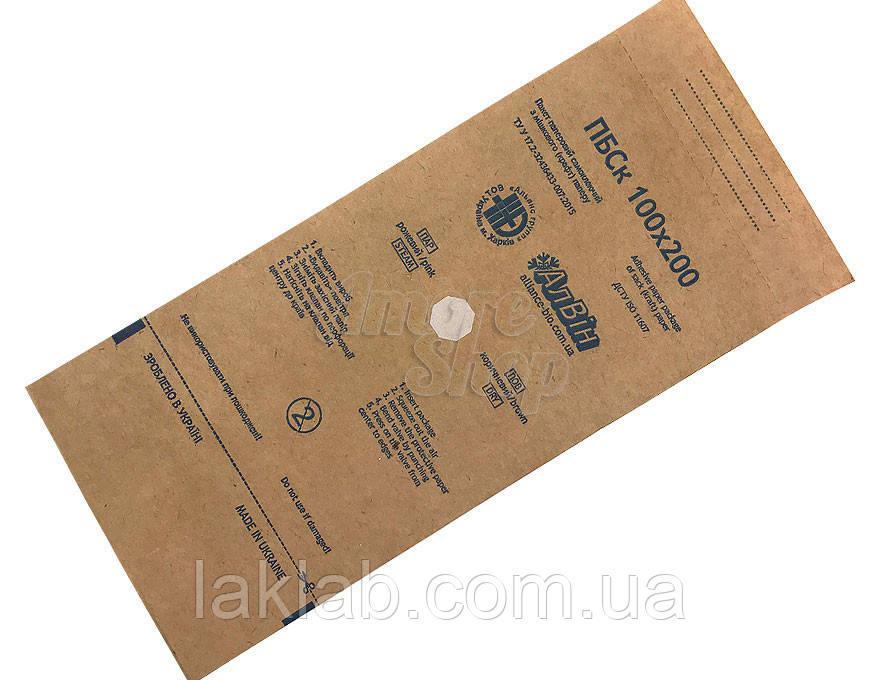 Крафт- пакеты для стерилизации АлВин ,100 шт размер 100х200
