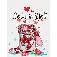 Картина по номерам без коробки 30 х 40 см Love is you Идейка КНО5526, фото 1