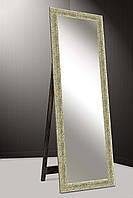 Зеркало напольное factura в пластиковом багете с опорной деревянной подставкой 60х174 см золотистое фактурное, фото 1