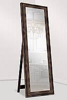 Зеркало напольное Зеркало настенное в пластиковой раме (внешний размер 60х176 см) темно-коричневый, фото 1
