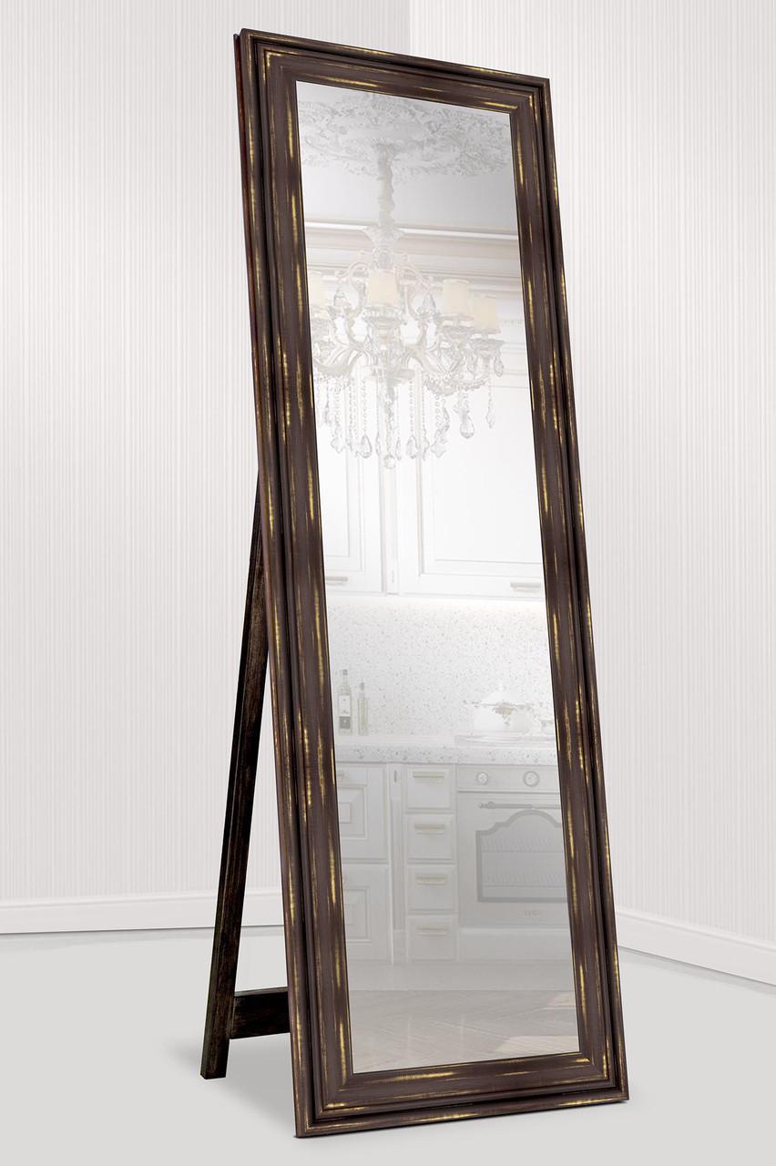 Зеркало напольное Зеркало настенное в пластиковой раме (внешний размер 60х176 см) темно-коричневый