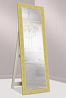 Зеркало напольное в ДЕРЕВЯННОЙ золотой раме, габариты 61х176 см, фото 1