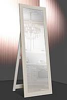 Зеркало напольное Factura в пластиковом багете с деревянной подставкой Cappuccino 60х174 см бежевое, фото 1