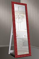 Зеркало напольное factura в Итальянском дереве с опорной деревянной подставкой 60х174 см красное, фото 1