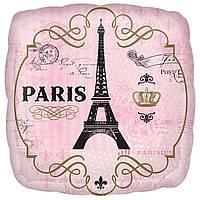Фольгированный шар с рисунком Anagram Happy Birthday Париж