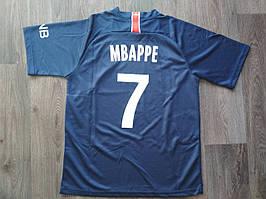 Детская футбольная форма ПСЖ Mbappe (Мбаппе) сезон 2018-2019 синяя