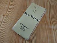 Прозрачный силиконовый чехол бампер для Huawei Honor 6c pro (5,2 дюйма) (с усиленными углами)
