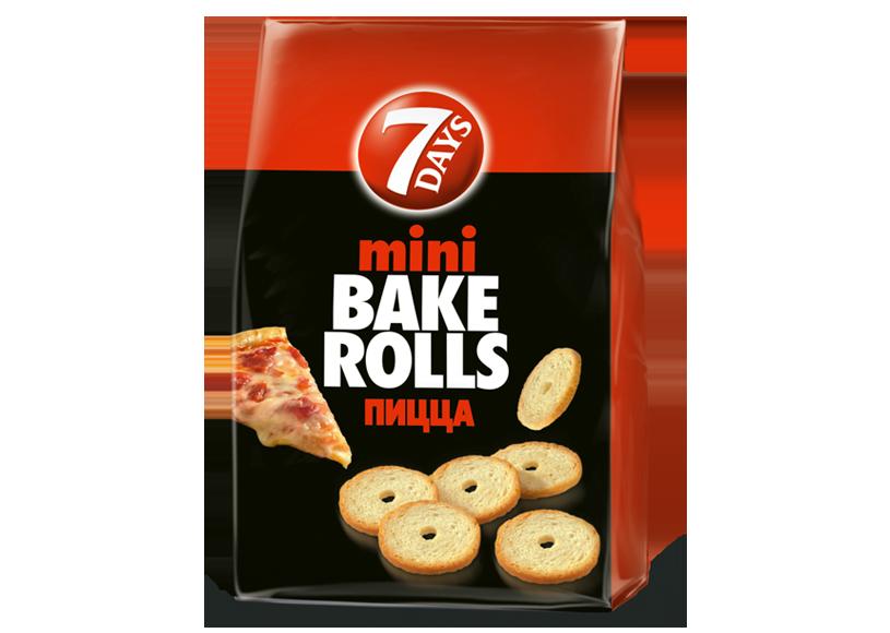 Хрустящие хлебные кольца Мини Bake Rolls пицца 80г