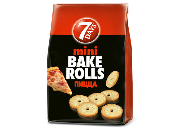 Хрустящие хлебные кольца Мини Bake Rolls пицца 80г, фото 2