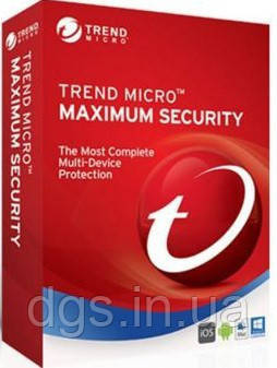 Trend Micro Maximum Security 2018 (3 ПК) лицензия 1 год