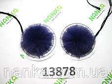 Меховой помпон Кролик, Фиолет, 5 см, пара 13878, фото 2