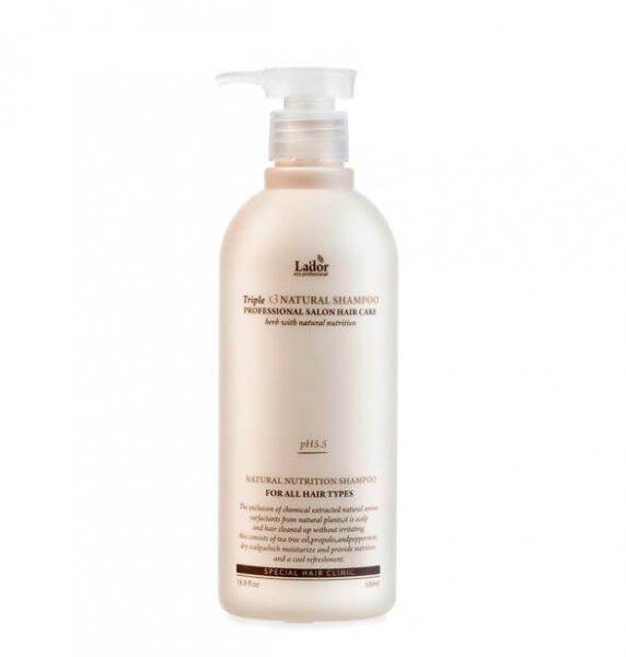 Органический шампунь с растительными экстрактами Triplex Natural Shampoo Lador - 530 мл