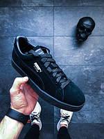 Мужские кроссовки Puma Suede Classic Black (Пума) черные оригинал f58a4038f6b6e