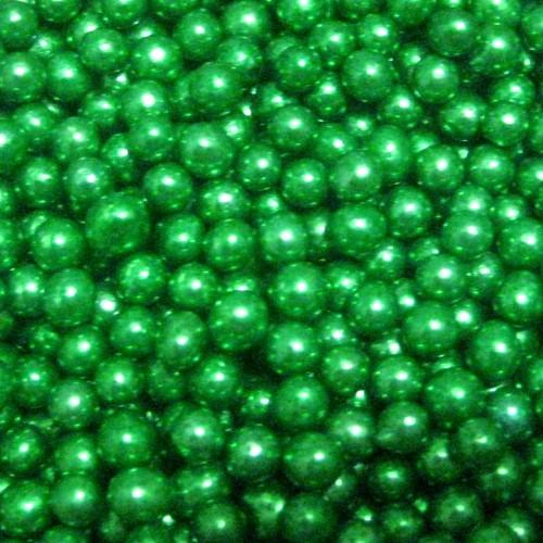 Посыпка шарики зеленые перламутровые 7 мм, 50 грамм