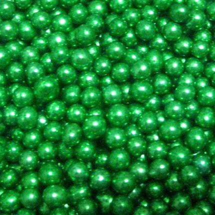 Посыпка шарики зеленые перламутровые 7 мм, 50 грамм, фото 2