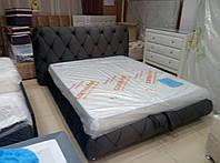 Кровать двуспальная Люкс Сиенна без матраса с ящиком для белья, фото 1