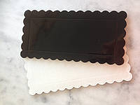 Прямоугольные подложки для кондитерских изделий черные/золото  15см х 30см
