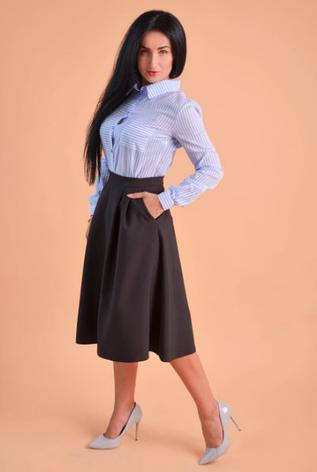 """Классическая женская рубашка """"Лола"""" размеры 48,50, фото 2"""