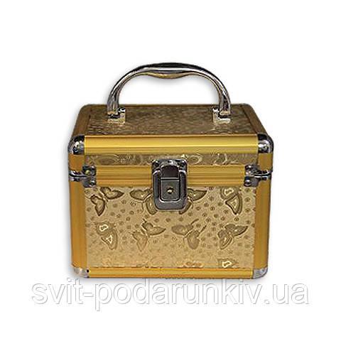 Шкатулка органайзер для рукоделия большая бабочки золотая S8151-3