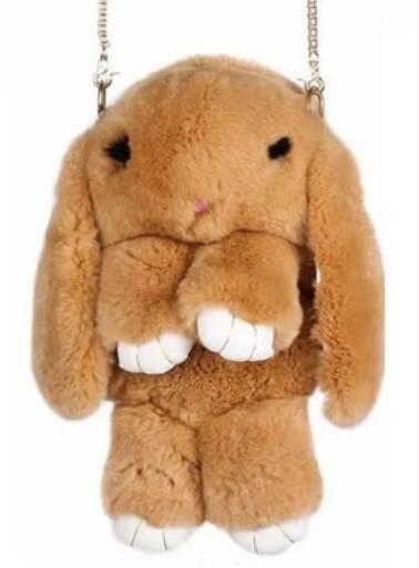 Меховая сумка в форме кролика