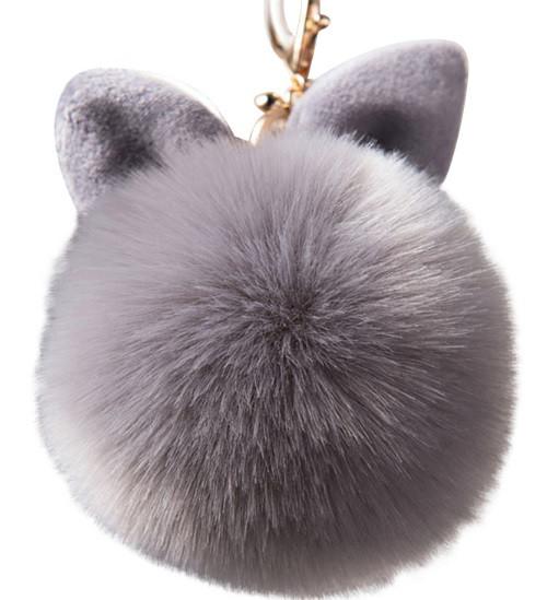 Меховой брелок-шар